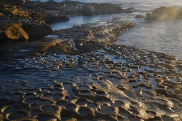 La Perouse holes in stones