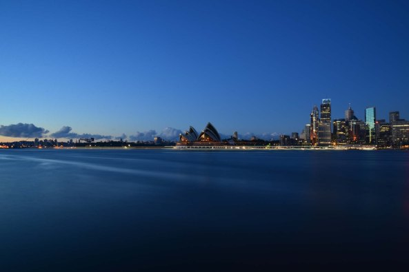Milsons point opera house and city