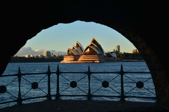 Milsons point opera house through arch