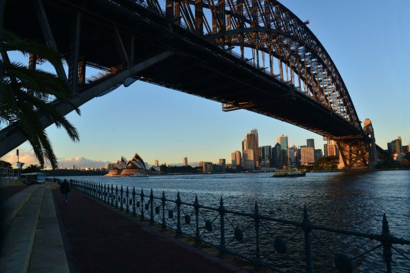Milsons point view under bridge